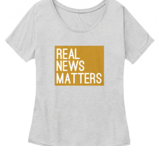 Gold Real News Matters Shirt Local TV
