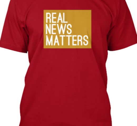 Gold Real News TV Local Shirt