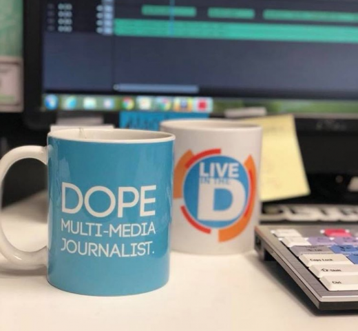 Dope multi-media journalist MMJ newsroom tv news