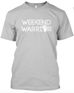 weekend warrior tshirt shirt grey gray tv news local newsroom