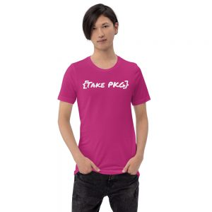 {Take PKG} pink tshirt