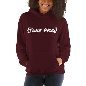 maroon {Take PKG} hoodie