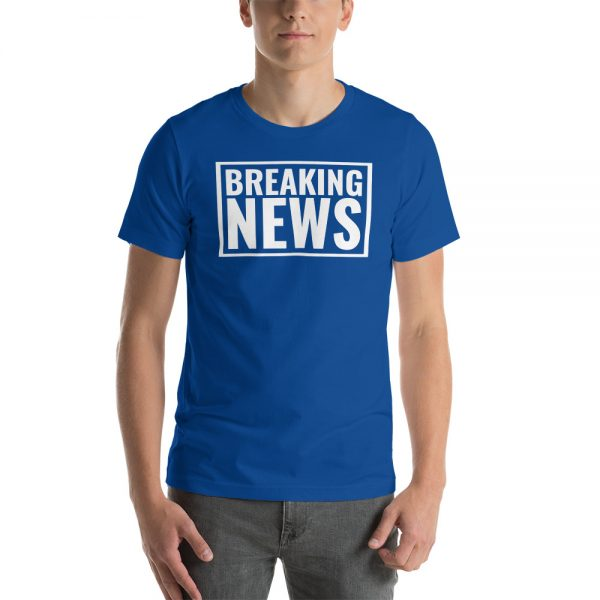 Blue Breaking News t-shirt