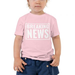 Breaking News Toddler Tee Pink