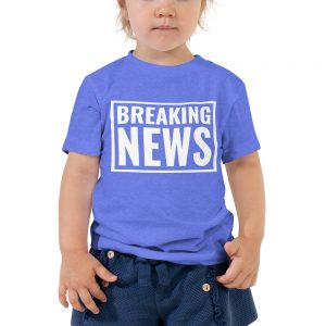 Breaking news toddler tee blue