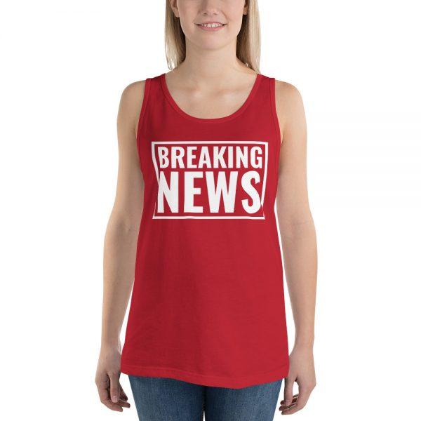 red breaking news tank top