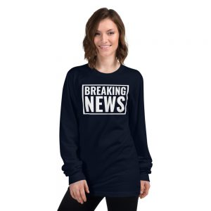 navy blue breaking news tshirt