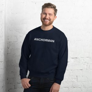 anchorman sweatshirt navy blue