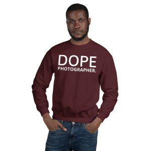 Dope photographer maroon sweatshirt