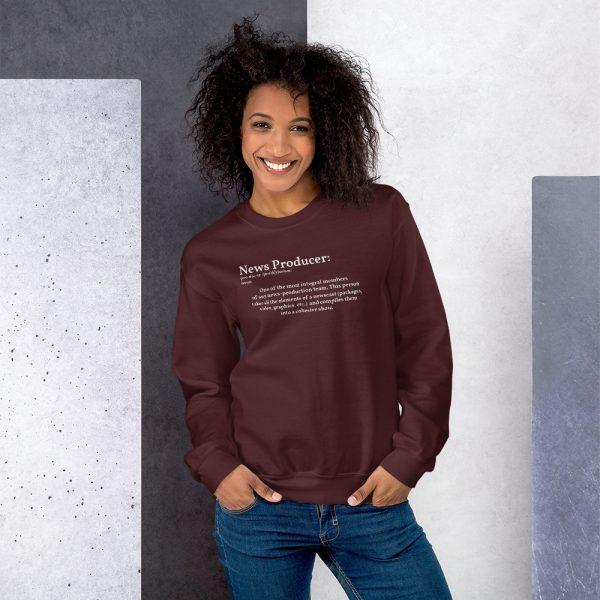 Define producer unisex sweatshirt maroon