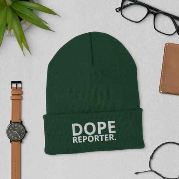 Dope reporter cuffed beanie dark green