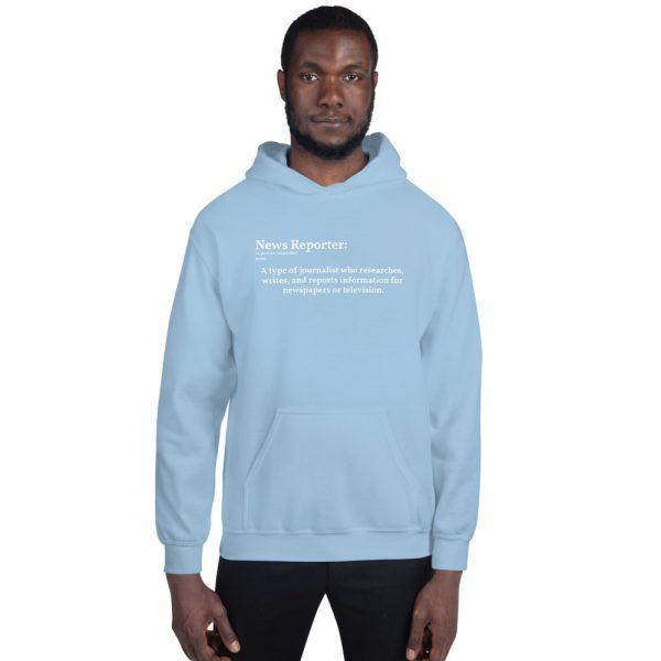 Define reporter hoodie unisex blue