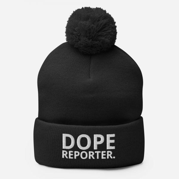 Dope Reporter pom-pom beanie black