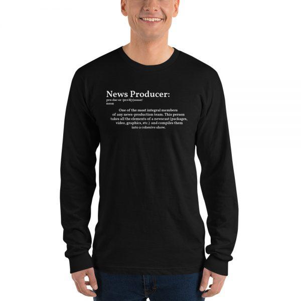 define producer long sleeve tshirt black
