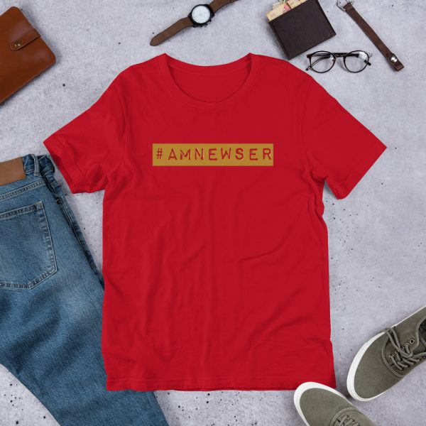 #AMNewser unisex t-shirt red