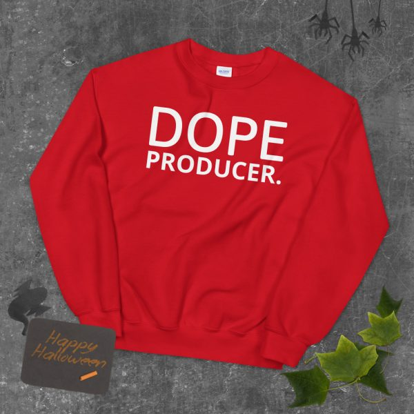 dope producer unisex sweatshirt red