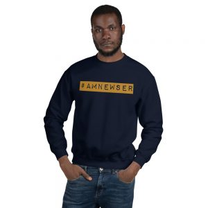 #AMNewser unisex sweatshirt navy blue