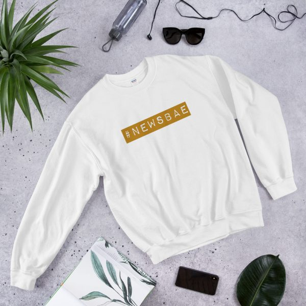 #newsbae unisex sweatshirt white