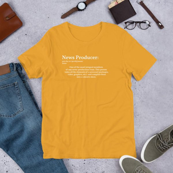 Define producer unisex tshirt yellow