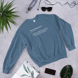 define reporter unisex sweatshirt blue