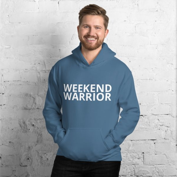 weekend warrior hoodie unisex blue