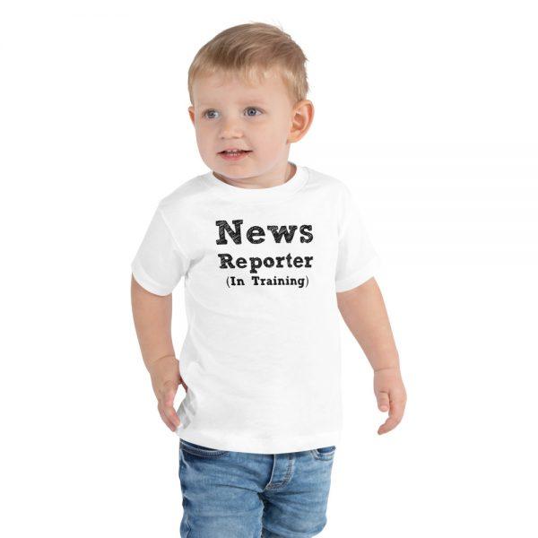 News Reporter In Training toddler tee white