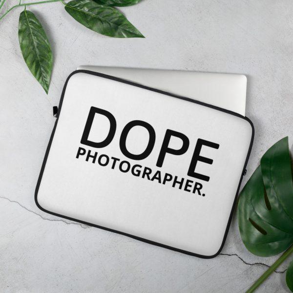 Dope photographer laptop sleeve