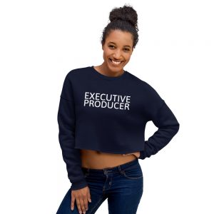 Executive Producer crop sweatshirt navy blue