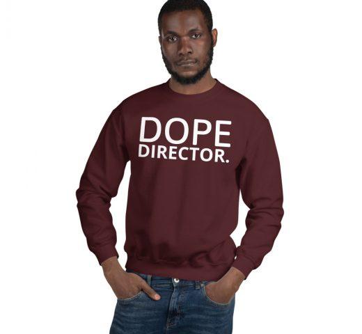 Dope Director unisex sweatshirt in maroon