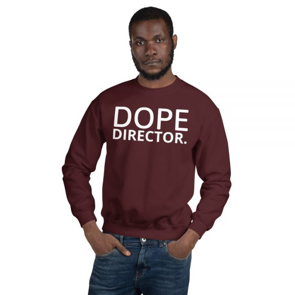 Dope Director unisex sweatshirt in maroon
