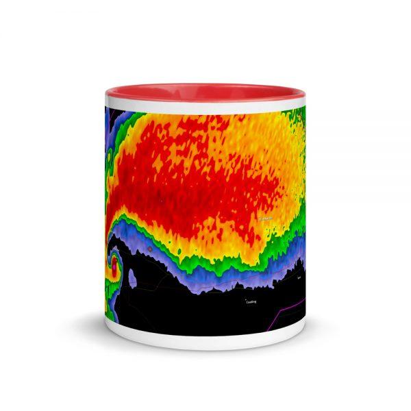 Hook Echo Mug with Color Inside Red