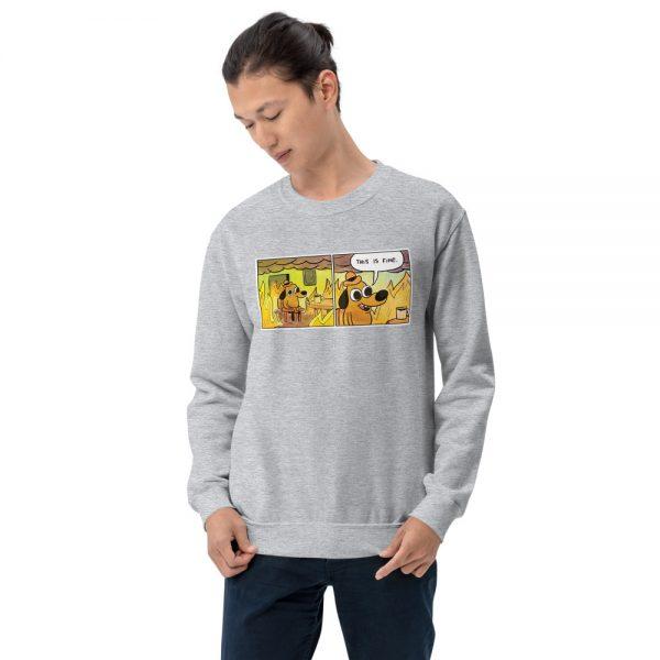 this is fine sweatshirt grey