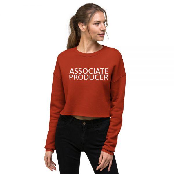 Associate Producer Crop Sweatshirt red
