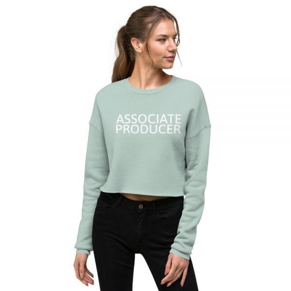 Associate Producer Crop Sweatshirt mint green