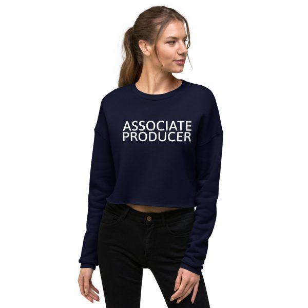 Associate Producer Crop Sweatshirt navy blue