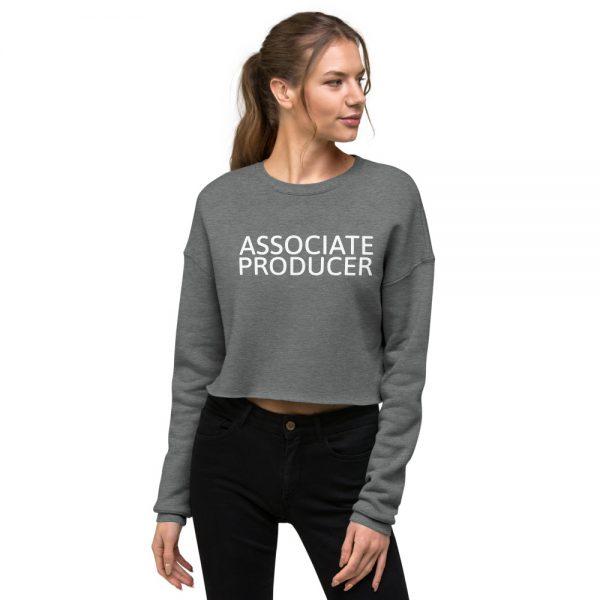 Associate Producer Crop Sweatshirt Grey