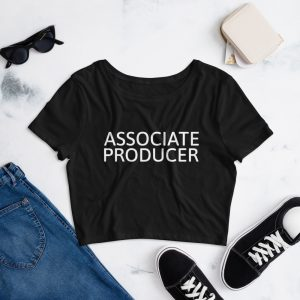 Associate Producer Crop Tee Black