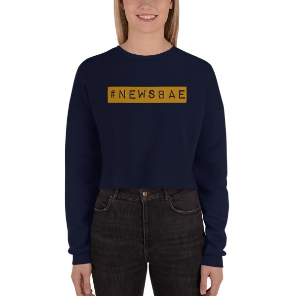 #NewsBae Crop Sweatshirt navy blue