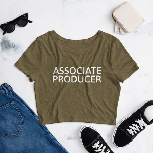 Associate Producer Crop Tee navy green