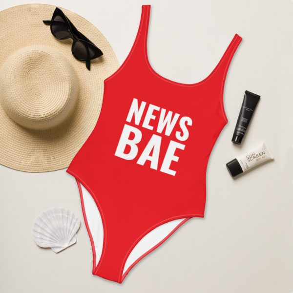 NewsBae One-Piece Swimsuit red