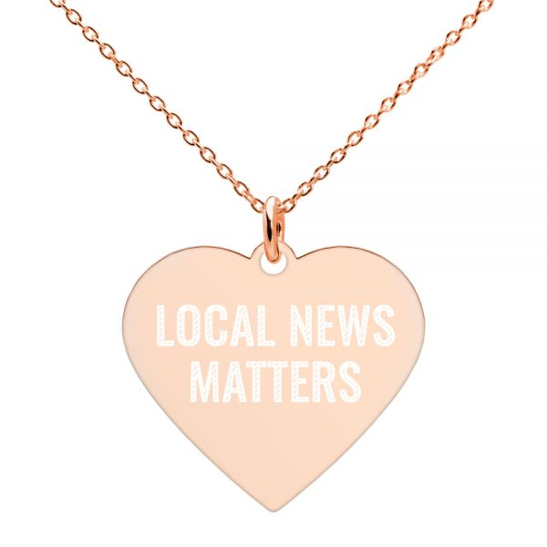 Local News Matters Heart Necklace rose gold