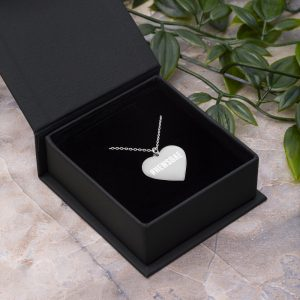 #NewsBae Engraved Heart Necklace silver
