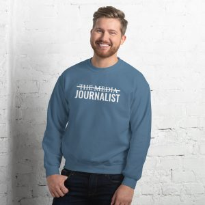 I'm Not The Media Sweatshirt light blue