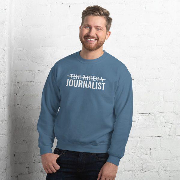 I'm Not The Media Sweatshirt light blue