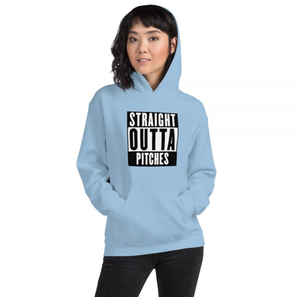 Straight Outta Pitches Hoodie light blue