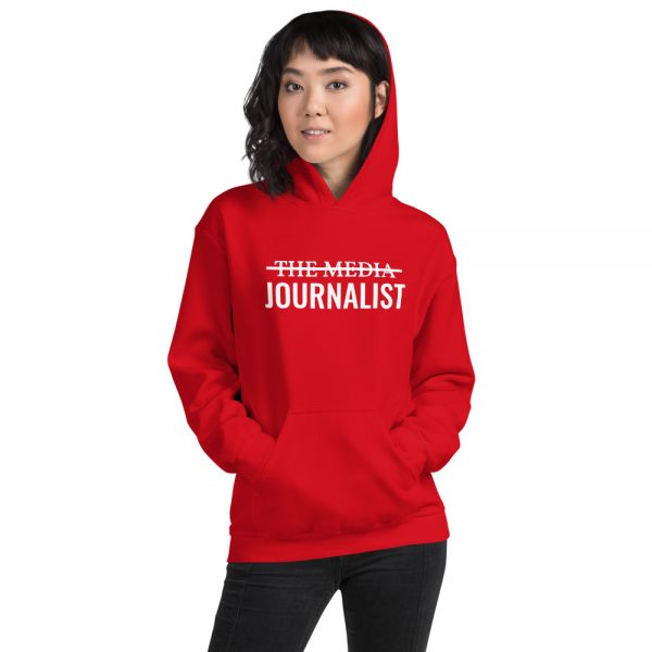 I'm Not The Media Unisex Hoodie bright red