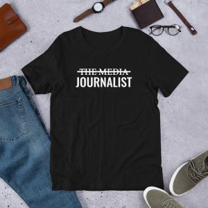 I'm Not The Media Unisex T-Shirt Black