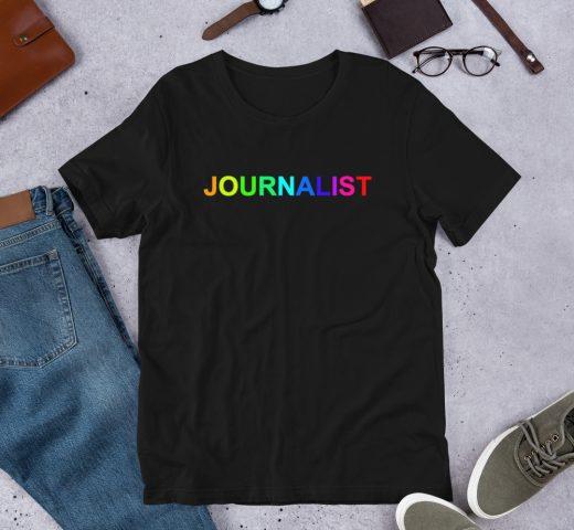 Journalist Pride Rainbow T-Shirt Black