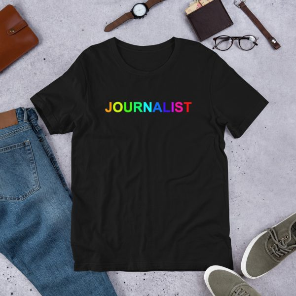 Journalist Pride Rainbow T-Shirt Black