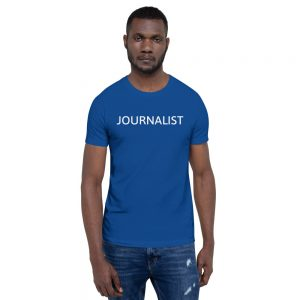 Journalist Unisex T-Shirt dark blue